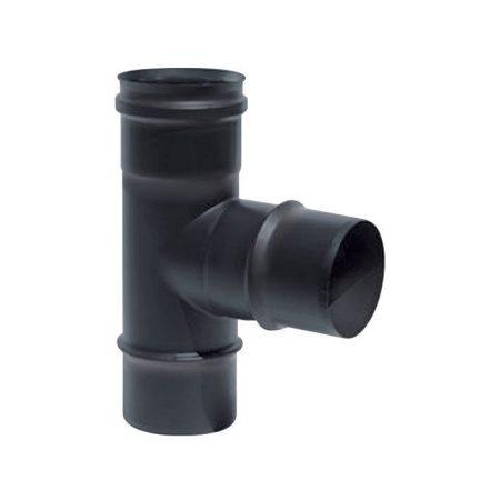 TE 90º Simple Pared Vitrificado Negro